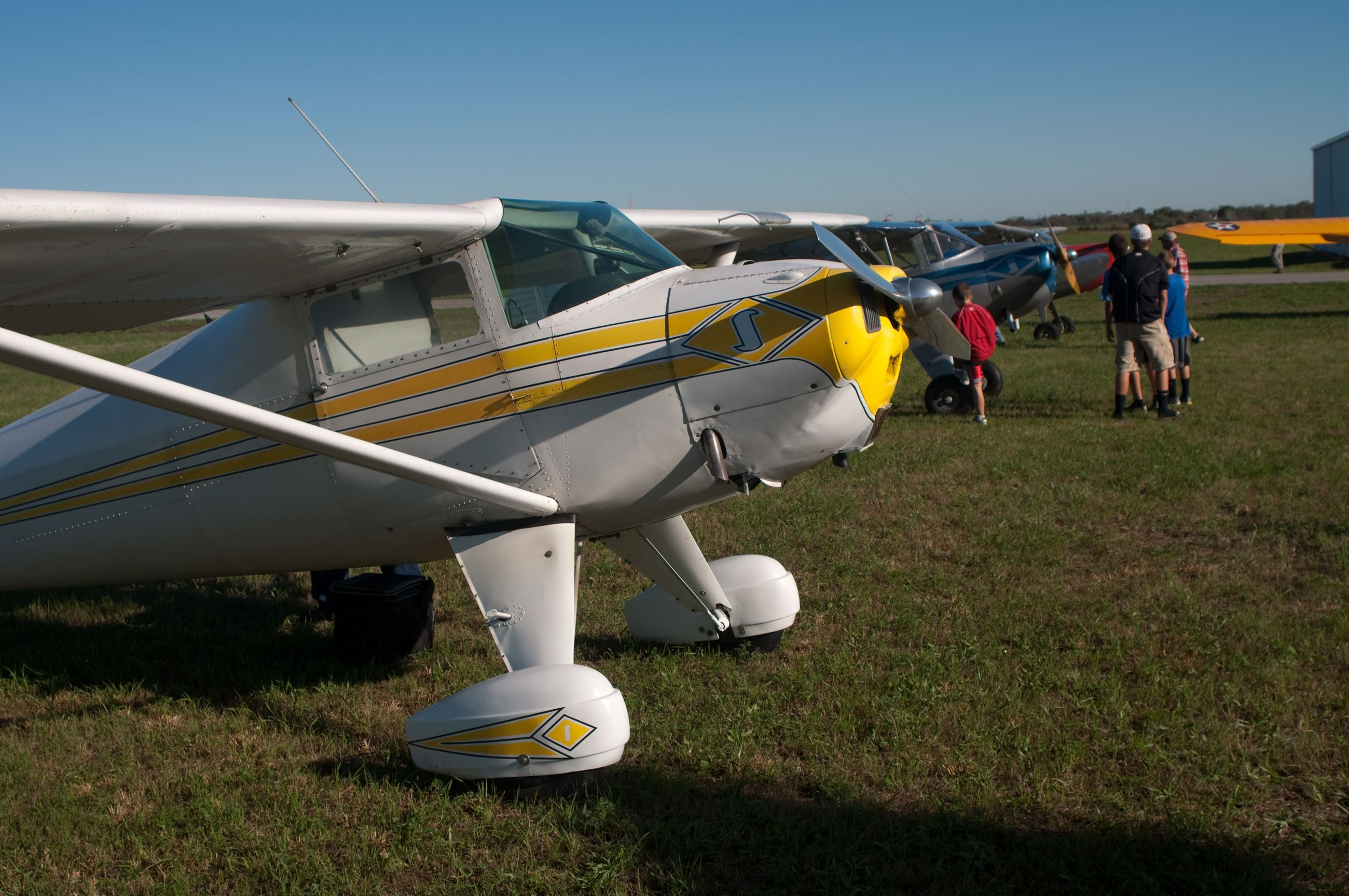 White and Yellow Plane