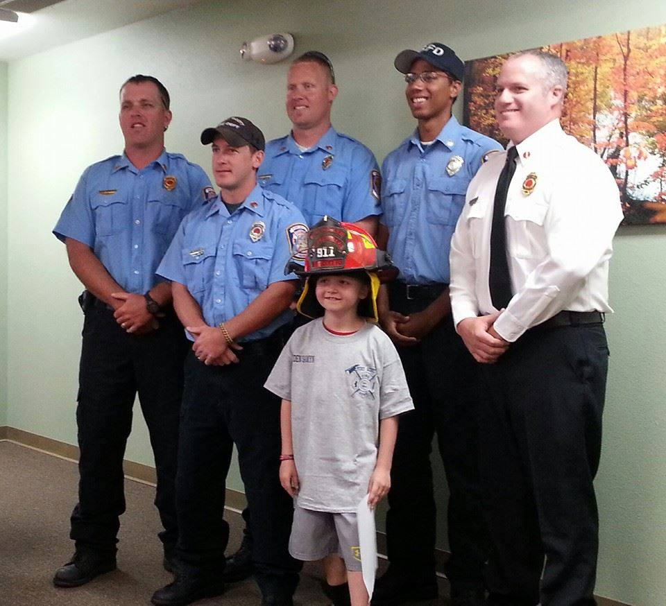Honorary Firefighter Kayden Samyn