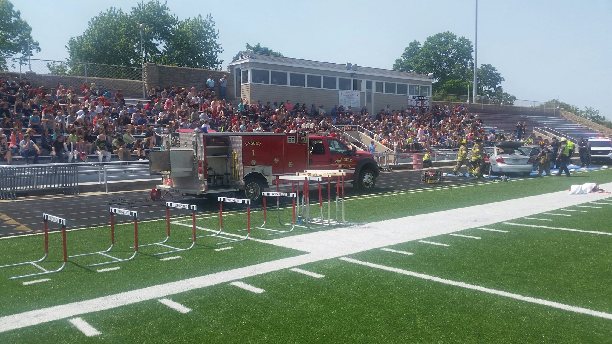 Rescue 1 at FSHS Mock Wreck