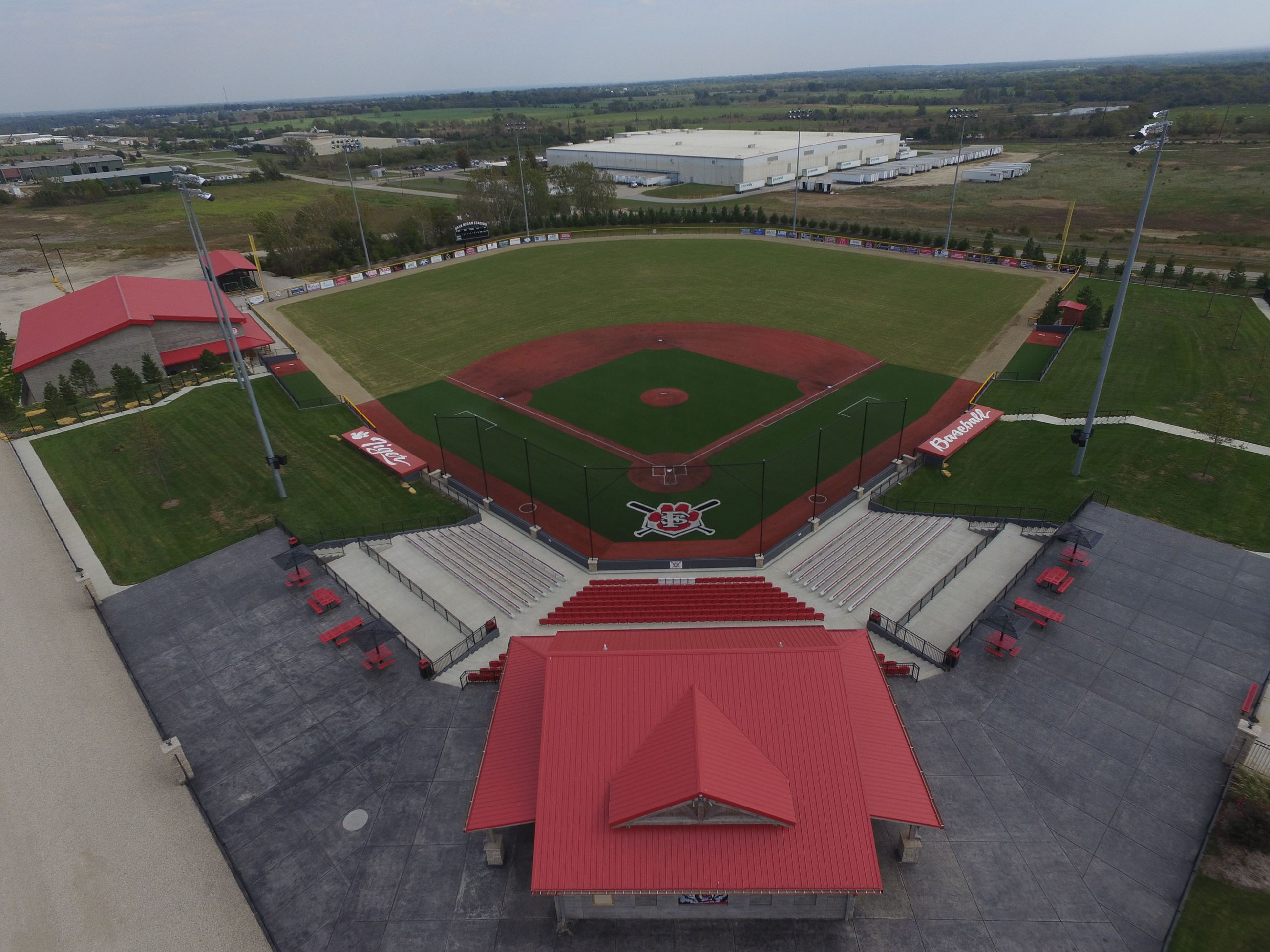 Aerial View of Baseball Complex