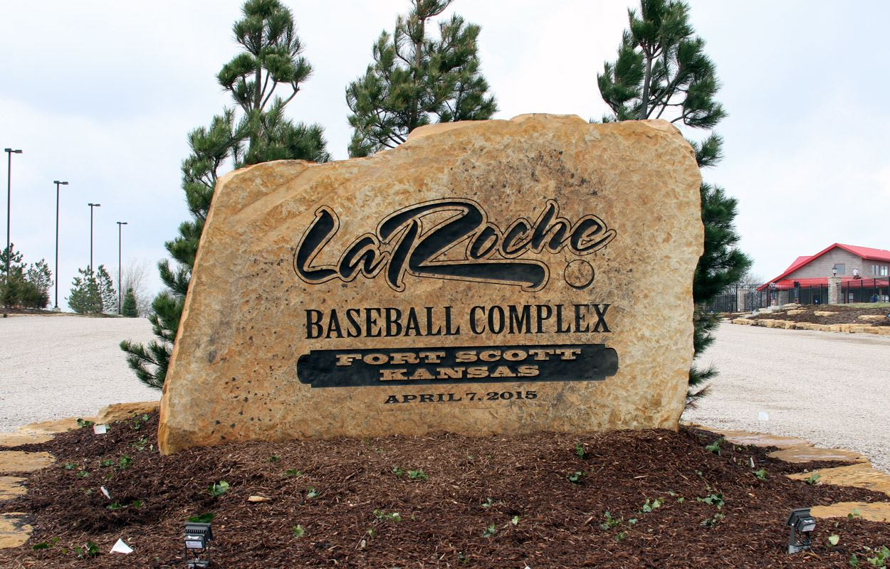 LaRoche Baseball Complex - Fort Scott Kansas Sign