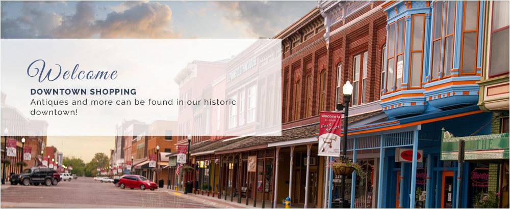 Downtown Shopping. Antiques and even more can be found in our historic downtown!