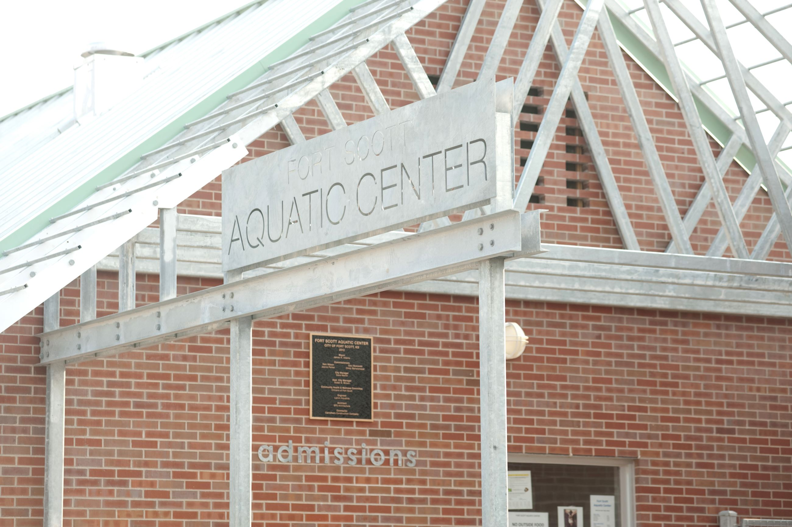 Fort Scott Aquatic Center Sign