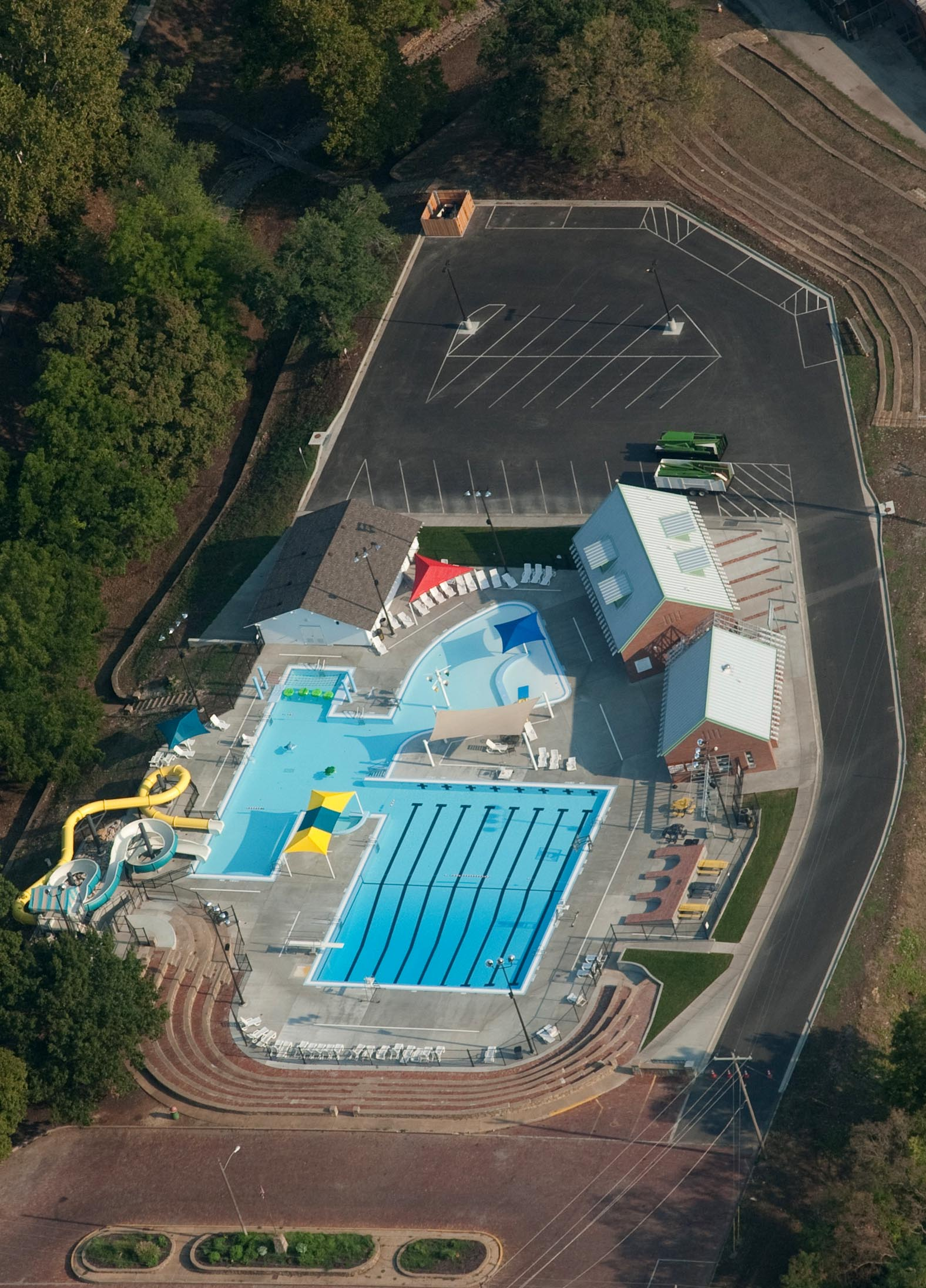 Aerial View of Aquatic Center